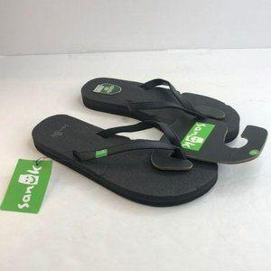 NWT Sanuk Sandal Flipflop Black Size 6M